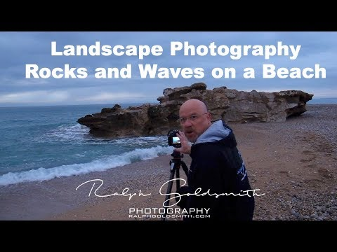 Landscape Photography - Rocks And Waves On A Beach