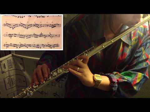 Anthropology (charlie parker) - jazz flute cover / with score