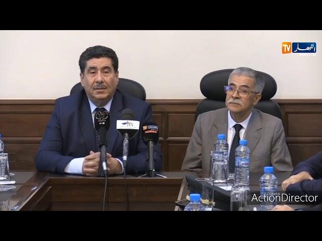 مراسيم تنصيب الوزير المنتدب للفلاحة الصحراوية والجبلية   السيد شحات فواد من طرف الدكتور شريف عماري