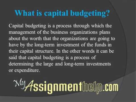 Capital Budgeting Homework Help Services on MyAssignmenthelp.com