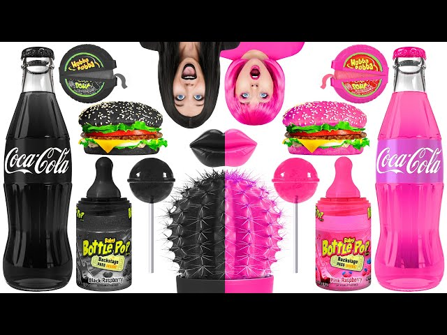 BLACK VS PINK FOOD CHALLENGE | Eating Everything Only In 1 Color For 24 Hours by Multi DO! CHALLENGE