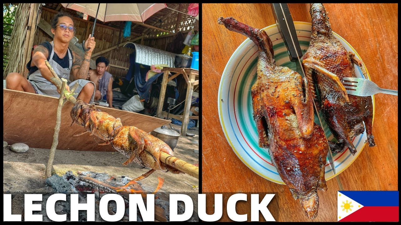 COOKING LECHON DUCK BALUT? Filipino Roasted Food - Beach House Life In Davao