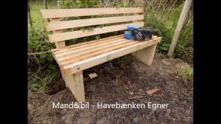 Sådan Bygger Man En Havebænk
