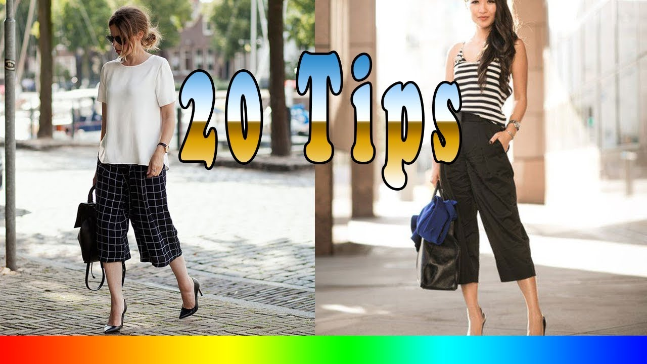 84fd142cd73 20 Style Tips On How To Wear Culottes - YouTube