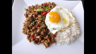 Learn to Cook Thai Food   Pad Kra Pao - Chili Basil Chicken in mins