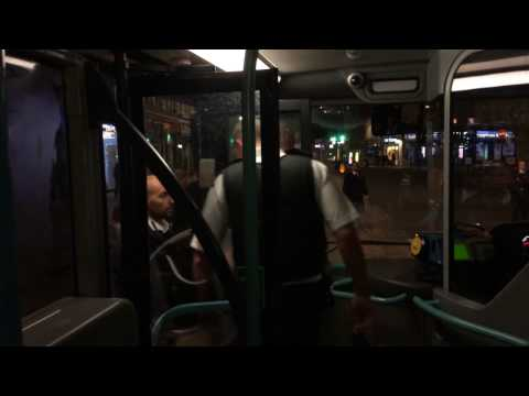 Police Storm London's Night Bus in Ealing