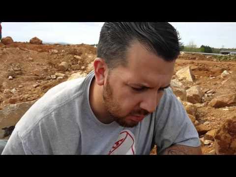 Digging quartz crystals mining rockhounding at ron coleman mines arkansas