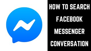 How to Search Facebook Messenger Conversation