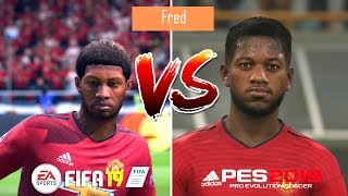 FIFA 19 vs PES 2019 | Manchester United Players Faces Comparison | Fujimarupes