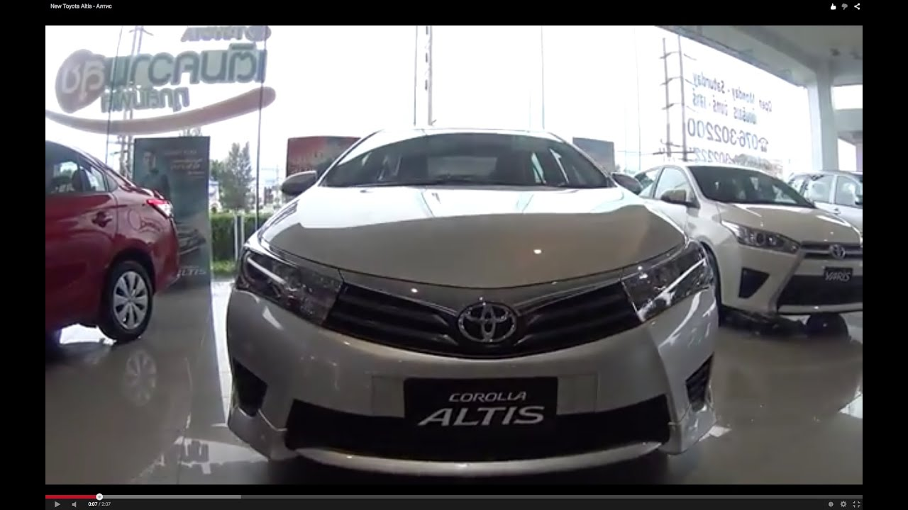 2015 Toyota Corolla For Sale >> Video Review New Toyota Corolla Altis 2016 - YouTube