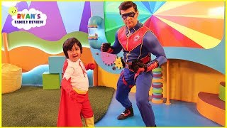 Captain Man from Henry Danger surprise Ryan on Ryan's Mystery Playdate!!