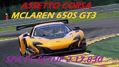 assetto corsa mclaren 650s gt3 spa pc 2.17.830 setup plus hotlap