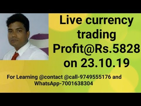 Live currency trading@ profit-Rs.5828 on 23/10/2019