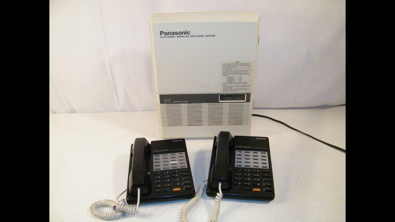panasonic 616 easa phone kx t61610 electronic modular switching rh youtube com panasonic dect 6.0 cordless phone system manual panasonic digital phone system manual
