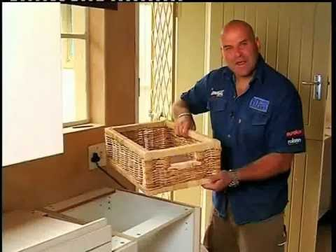 Diy Kitchen Slide Out Baskets Youtube