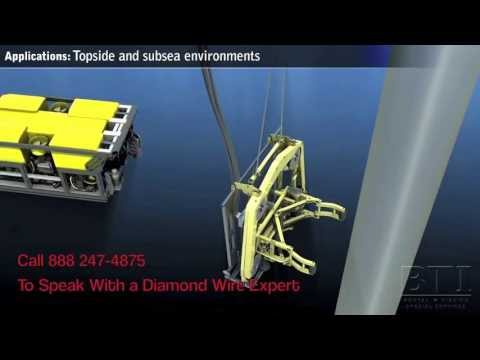 Articulating Diamond Wire Saw | Mactech Offshore - YouTube