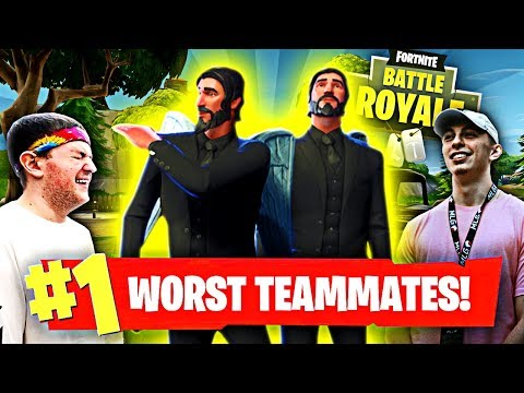 HOW TO BE THE WORST TEAMMATES IN FORTNITE! ft. Nudah (Fortnite Battle Royale Funny Moments)