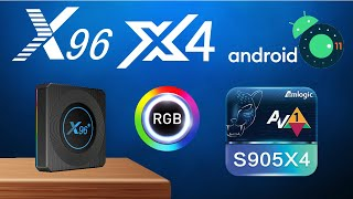 Super Fast - X96 X4 Amlogic S905X4 Android 11 AV1 Video TV Box