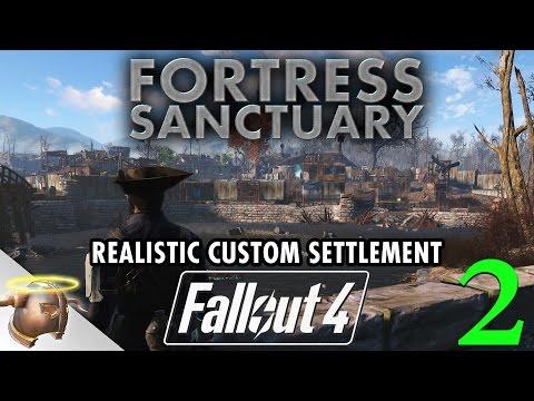 FORTRESS SANCTUARY - Huge, realistic Fallout 4 settlement | PART 2
