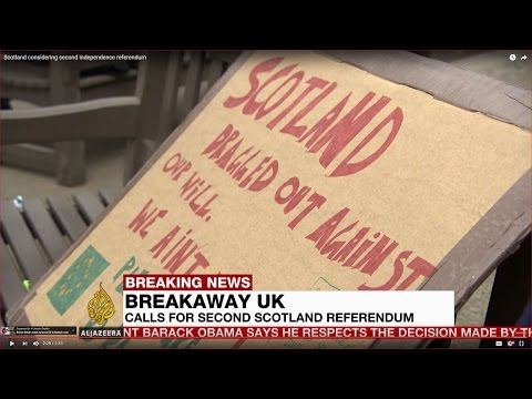 Scotland considering second independence referendum