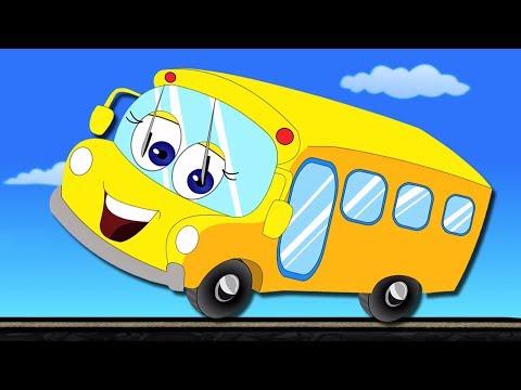 As rodas no ônibus | ônibus canção para crianças | Top 10 rima de berçário | The Wheels On The Bus