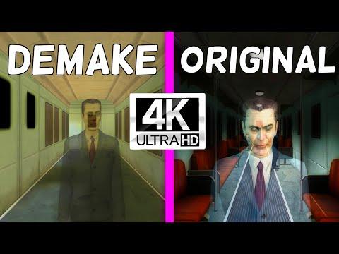 Half-Life 2 - Original vs. Demake - City 17 Comparison 4K 60FPS