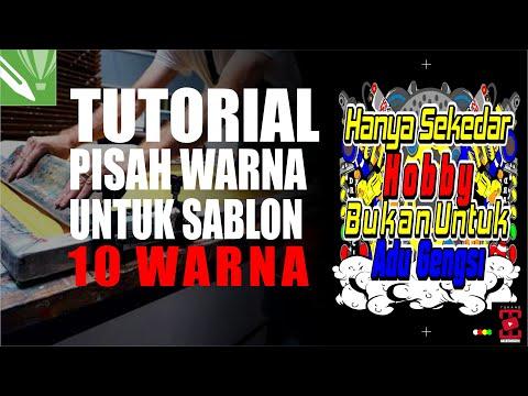 Tutorial Pisah Warna Untuk Sablon Manual (10 Warna) Menggunakan corelDRAW Secara Detail