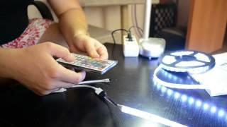 Водонепроницаемая светодиодная лента RGB 5050 LED(Посылка: Водонепроницаемая светодиодная лента RGB 5050 LED с Aliexpress. Длина 5 метров, 60 шт светодиодов на 1 метр...., 2014-09-27T09:04:12.000Z)