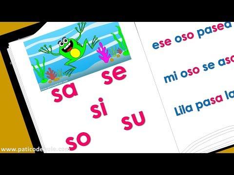 Sílabas Sa Se Si So Su - Aprende A Leer -  Palabras Con S Para Niños