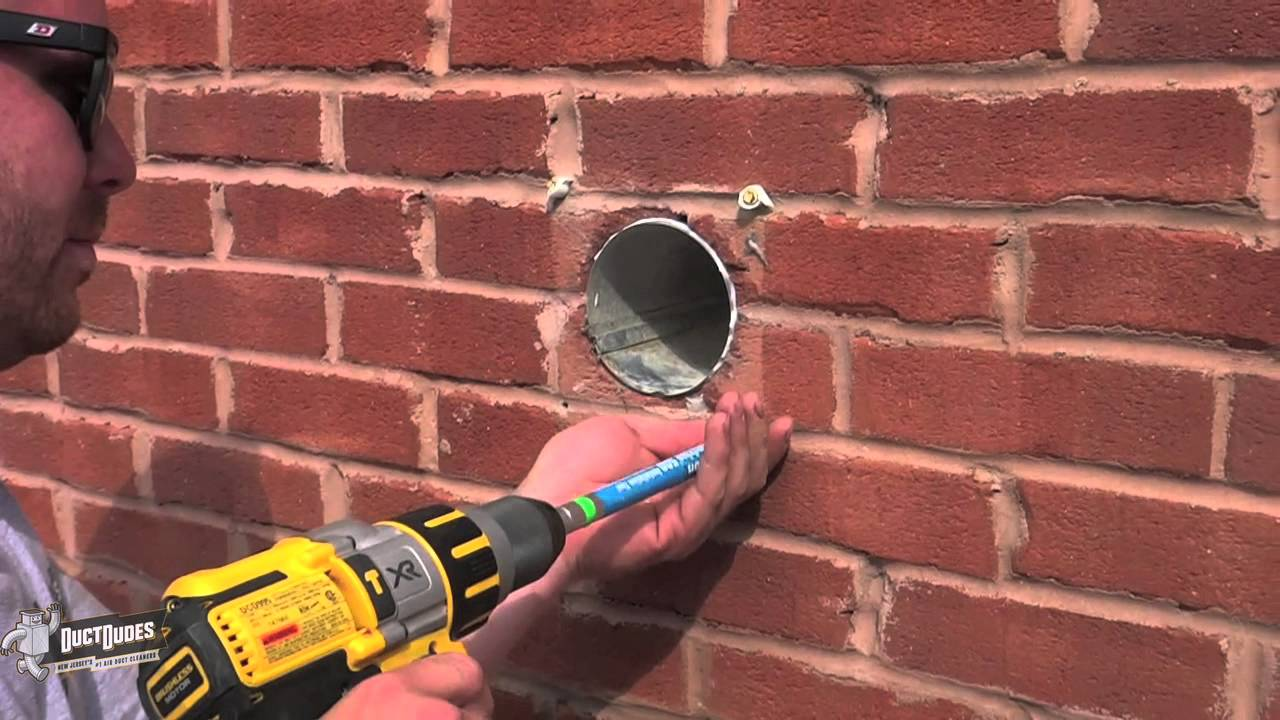 NJ Dryer Vent Cleaning   Dryer Wall Vent Installation   YouTube