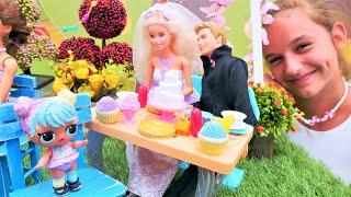 Фото Куклы ЛОЛ на свадьбе. Барби и Кен поженились. Видео для девочек.