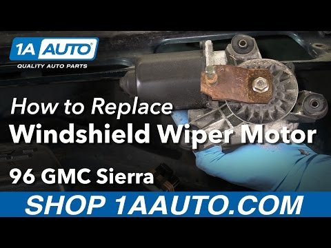 How to Install Replace Windshield Wiper Motor 1988-98 GMC Sierra K1500