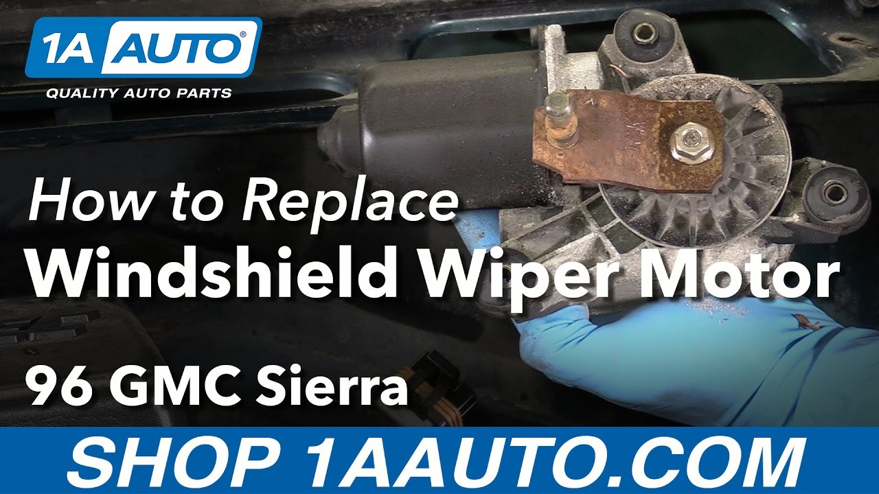 How to install replace windshield wiper motor 1988 98 gmc for How do you replace a windshield wiper motor