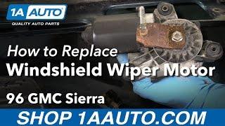 How to Install Replace Windshield Wiper Motor 1988-98 GMC Sierra K1500