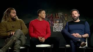 JUSTICE LEAGUE: Ben Affleck, Jason Momoa & Ray Fisher Interview
