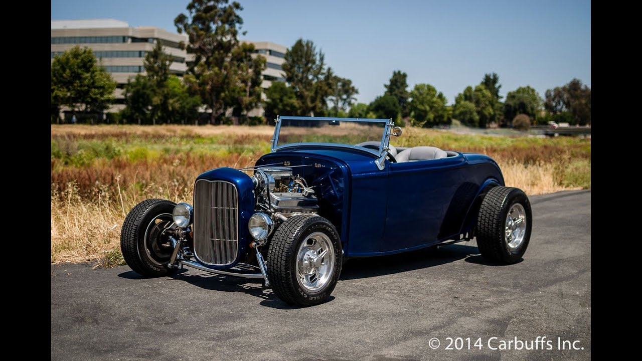 1932 Ford Roadster Lowboy Hot Rod starting - YouTube