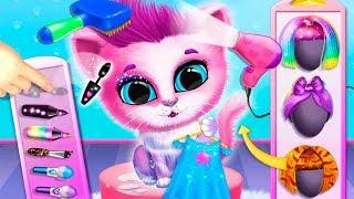 Маленький котенок КИКИ и щенок ФИФИ собираются в отпуск в детской игре на канале малышерин tv