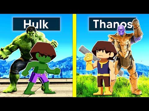 HULK FAMILY VS THANOS FAMILY In GTA 5!