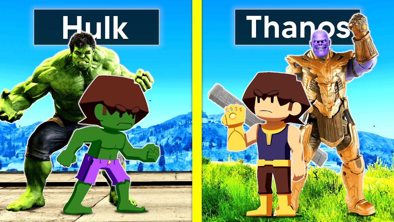 Download HULK FAMILY VS THANOS FAMILY In GTA 5!