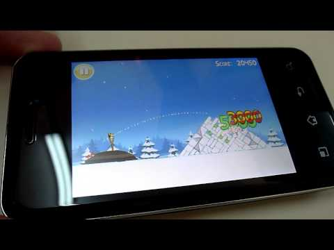 Angry Birds Christmas on LG Optimus Chic Ringhk.com