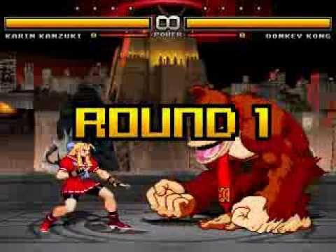 MUGEN |\/| Karin Kanzuki (me) VS Donkey Kong
