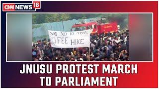 JNUSU Organises Protest March To Parliament   CNN News18