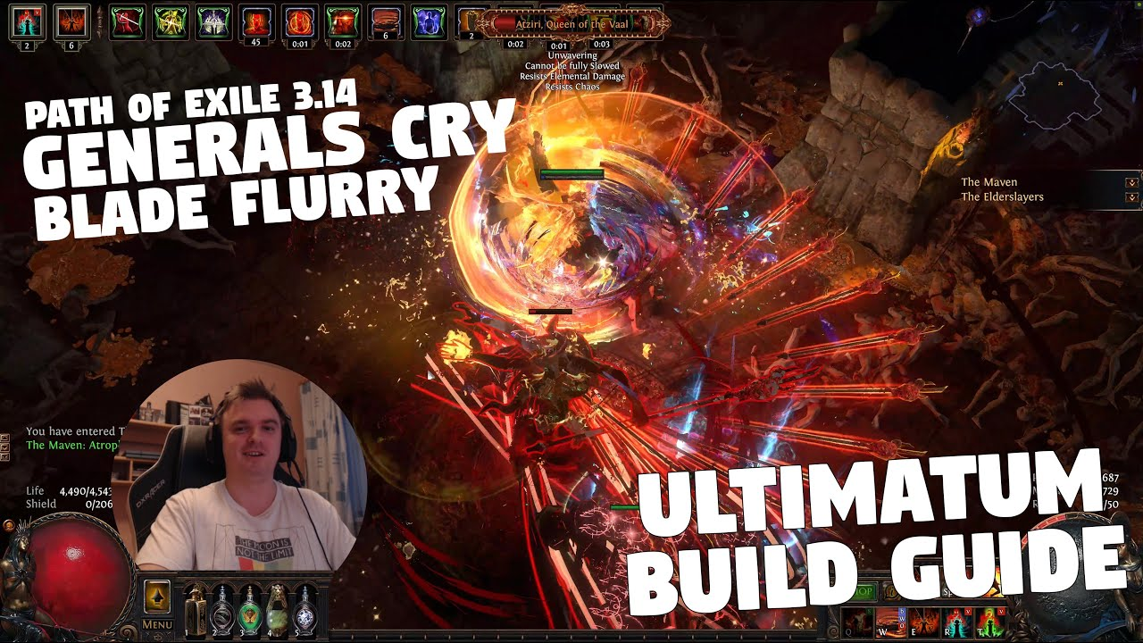 Path of Exile 3.14 - ULTIMATUM - My Generals Cry Blade Flurry BUILD GUIDE!
