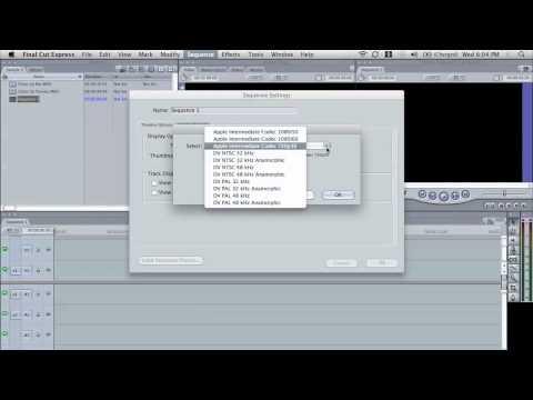 Convert HD Video to Standard Definition using Final Cut Pro
