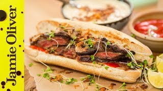 Japanese Steak Sandwich | Food Busker & Brothers Green Eats