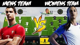 WHAT IF THE BEST MEN'S TEAM PLAYED THE BEST WOMEN'S TEAM? 🤔 FIFA 17 EXPERIMENT