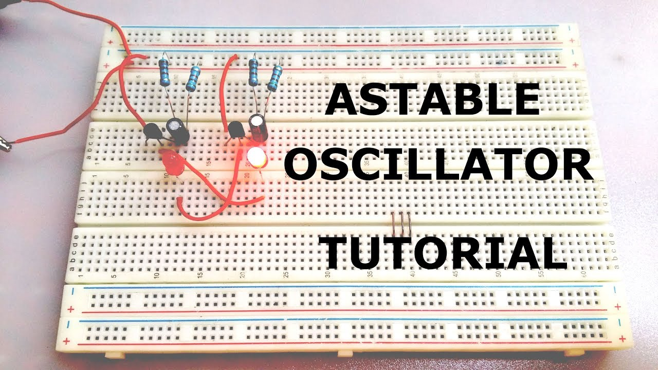 How To Make Astable Multivibrator Oscillator Step By