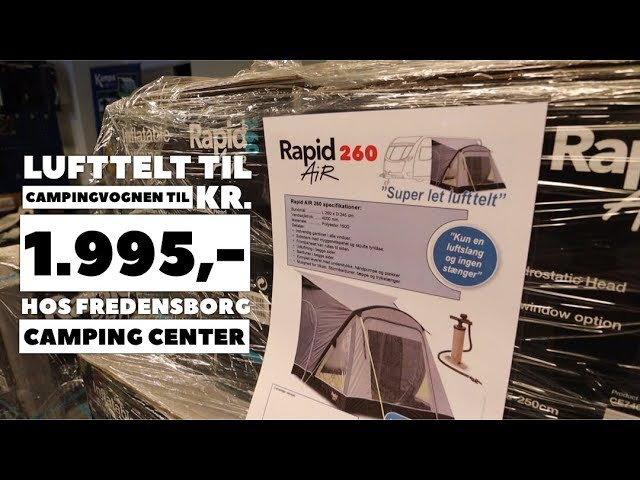 Fredensborg Camping Center - lufttelt til campingvogn kr. 1.995