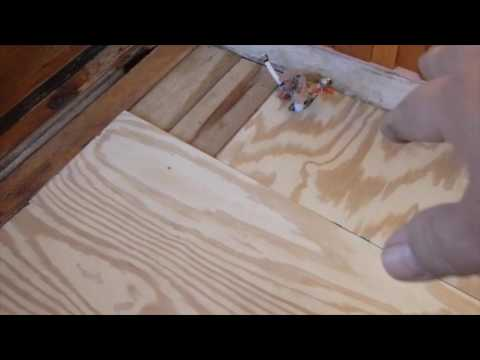 Cutting Holes In Plywood For Bathroom Floor