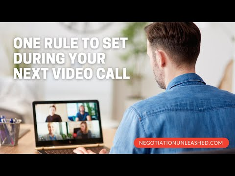 One Rule to Set During Your Next Video Call